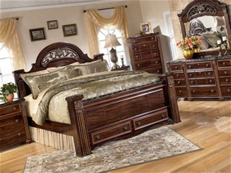 gabriela poster bed w storage footboard bedroom set by