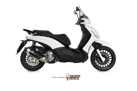 piaggio beverly 125 exhaust mivv stainless steel c