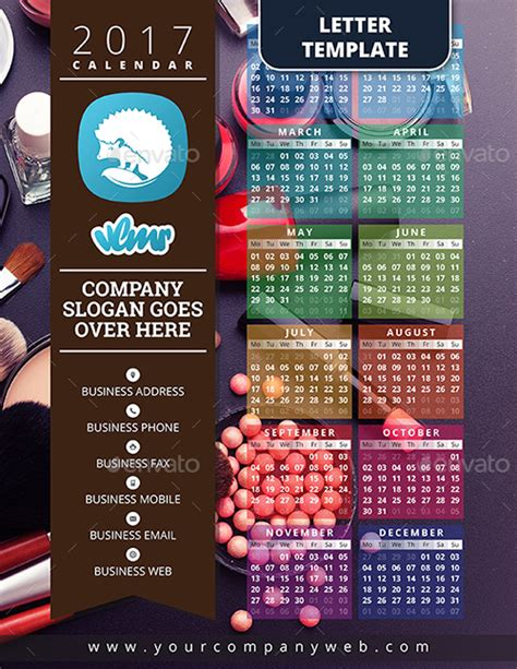 one page calendar template 2017 one page calendar template by vlmr graphicriver