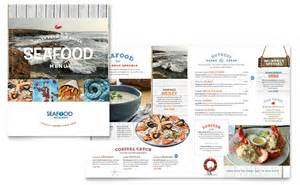 seafood menu templates seafood restaurant menu template word publisher