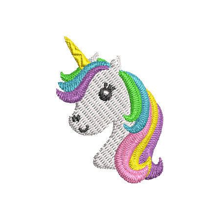 embroidery design unicorn mini unicorn head embroidery design instant download