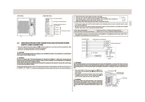 mitsubishi air conditioner installation mitsubishi mxz a26 32wv air conditioner installation manual