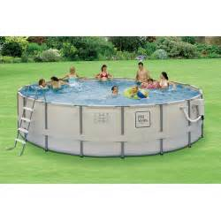 Round 15 x 48 quot deep metal frame swimming pool package walmart com