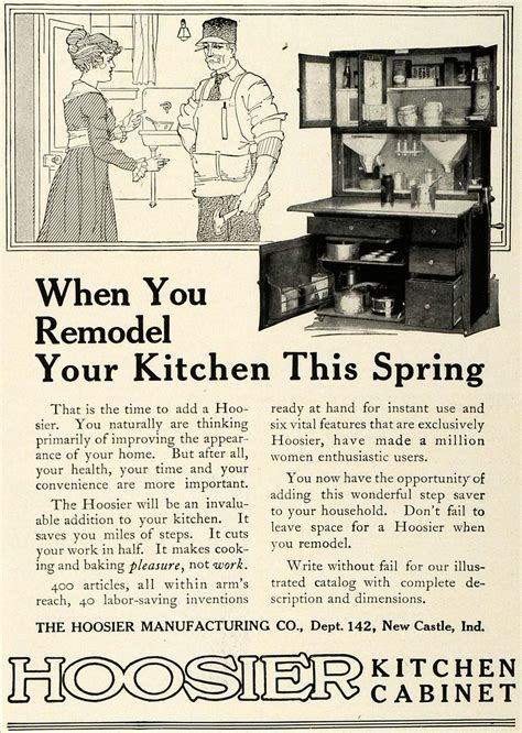kitchen cabinet advertisement 1917 ad hoosier kitchen cabinet antique home remodeling