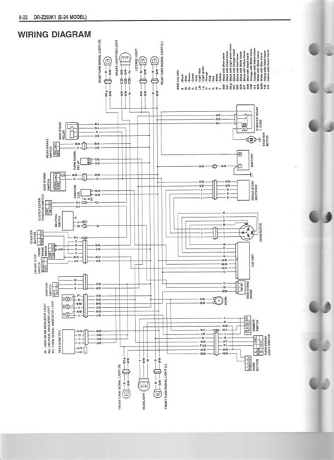 drz400 wiring diagram drz 250 cdi drz 125 125l 250 thumpertalk