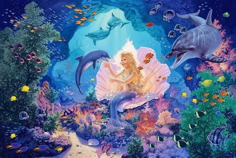 imagenes de unicornios marinos im 225 genes arte pinturas paisajes coralinos acu 225 ticos con