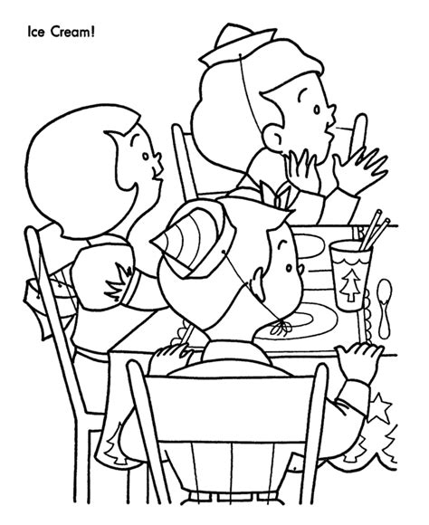birthday party coloring pages coloring home