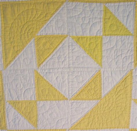 triangle pattern name yellow white triangles unknown pattern quilt sold cindy