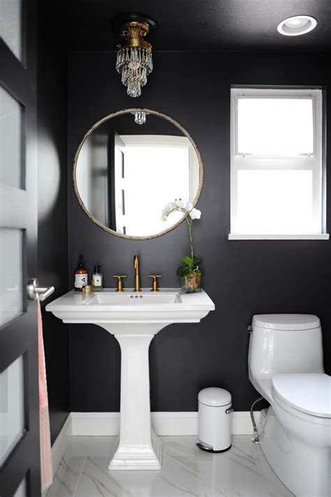 dark painted bathrooms a blend of traditional and modern desire to inspire