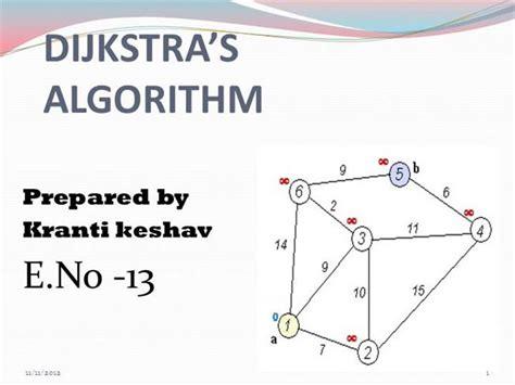 dijkstra algorithm flowchart dijkstra s algorithm authorstream