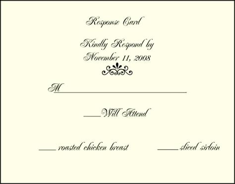 wedding invitation response cards paperinvite