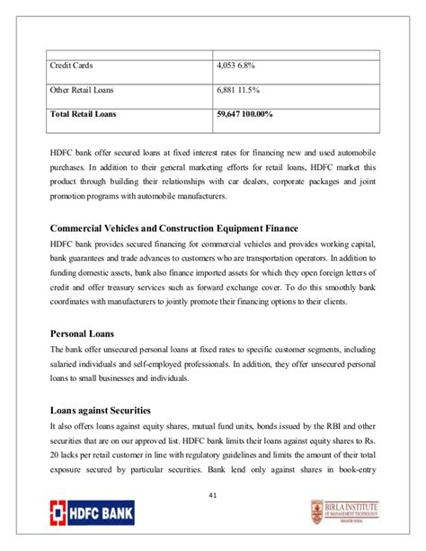 Hdfc Letter Of Credit Hdfc Competition Analysis