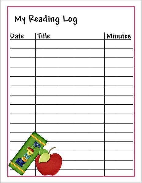 printable children s reading log 19 best reading logs images on pinterest reading