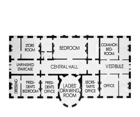 floor plan of the house second floor white house museum