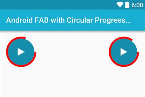 circular layout in android exle adding circular progress ring to android fab floating