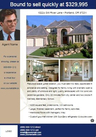 powerpoint real estate flyer templates residential realtor flyer