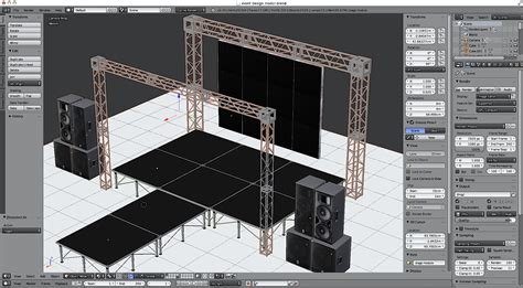 event layout software 3d stage set design module by holution 3docean