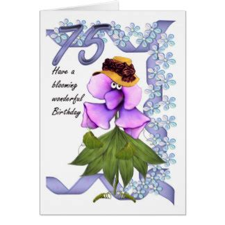 75th Birthday Card 75th Birthday Card With Moonies Cute Bloomers