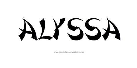 alyssa tattoo alyssa name designs