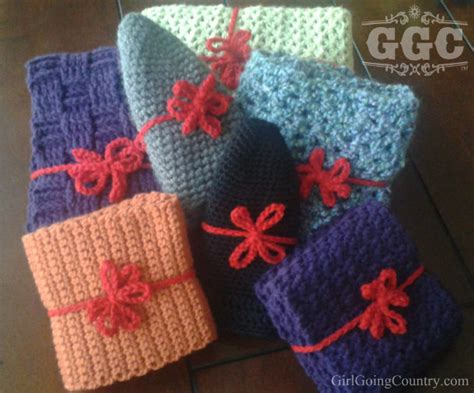 crochet christmas gift wrap up