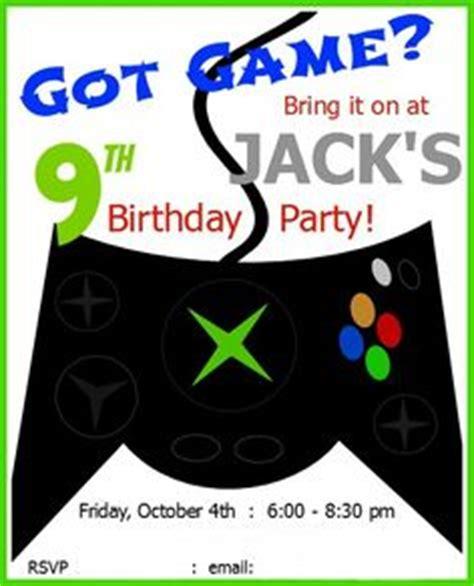 printable xbox birthday cards 5 x 7 printable video game birthday invitation gaming