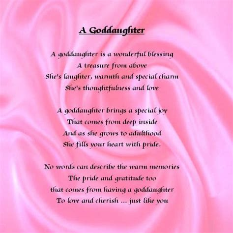 Goddaughter Quotes Birthdays Goddaughter Quotes And Poems Quotesgram