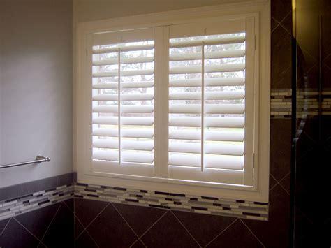 bathroom shutters interior best window treatment for a new bathroom 187 windo van go