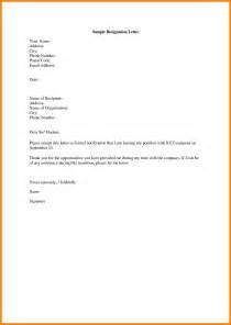 Resignation Letter In Word Format by 11 Simple Resignation Letter Format In Word Hvac Resumed
