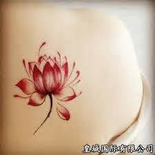 red lotus tattoo and body piercing red lotus tattoo perfect for ankle rising above all the