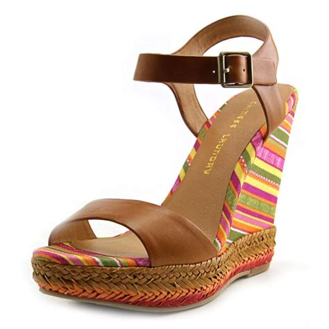 multi color wedge sandals laundry laundry mahalo leather multi