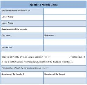 Rent A For A Month Lease Template For Month To Month Sle Of Month To