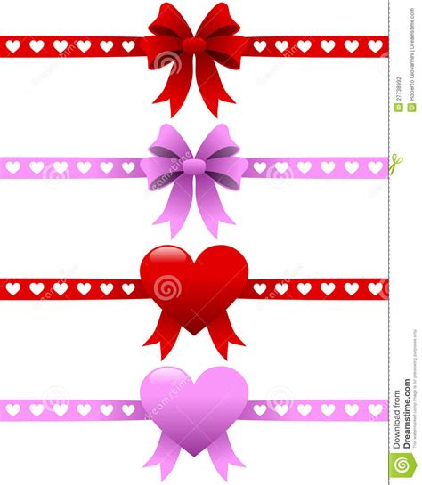 valentines day ribbon s day ribbons set stock photography image