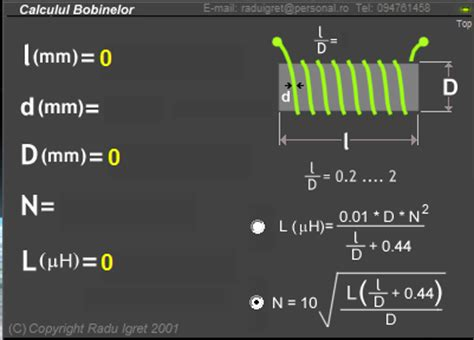coil inductance calculator software technology coil calculator free