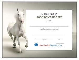 printable gift certificates with horses certificates gallery schoolhouseteachers com