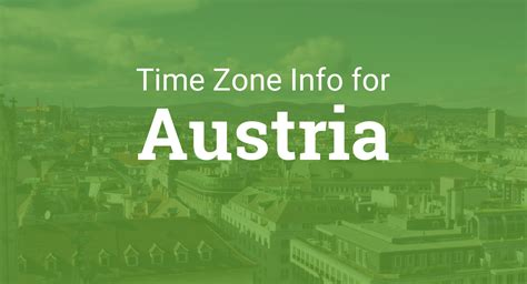 time zones  austria