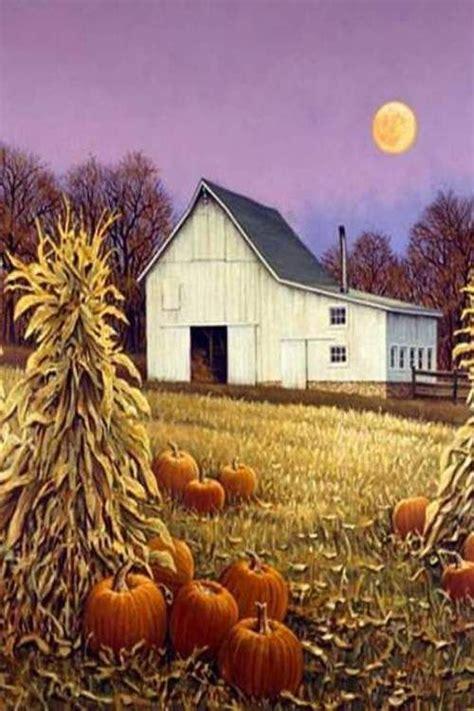 fall barn painting  barns autumn art autumn scenes