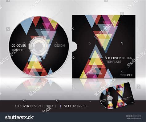 layout cd vector cd cover design templatevector illustration stock vector