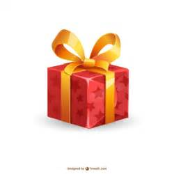 christmas present illustration vector free download