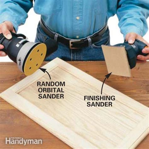the best sander for finishing cabinets the family handyman