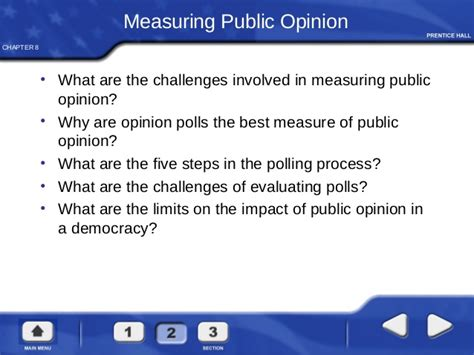 chapter 8 section 2 measuring public opinion answers mass media and public opinion