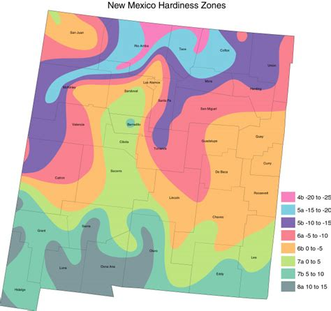 Zones For Gardening Map - new mexico cropmap