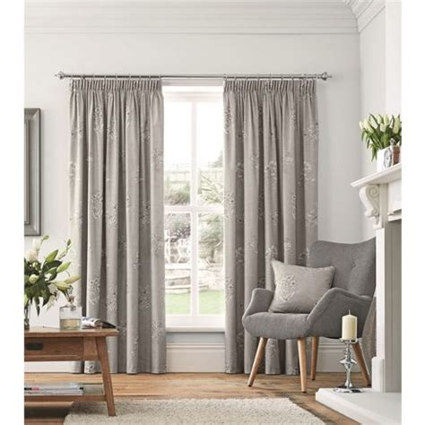 grey curtains 90x90 buy fusion flora lined pencil pleat curtains dove grey