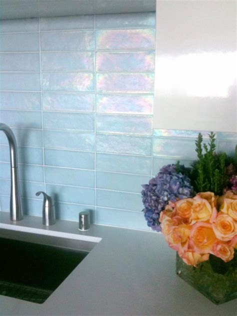 glass tile backsplash pictures kitchen update add a glass tile backsplash hgtv