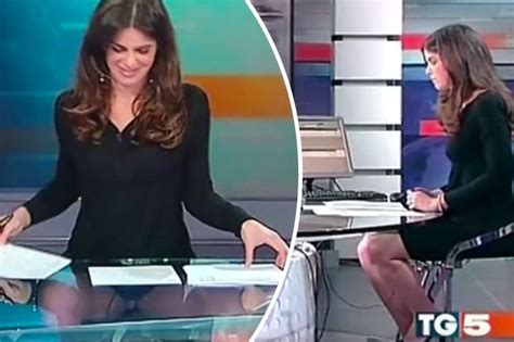 claudio fico glass desk italian newsreader does basic instinct live on air