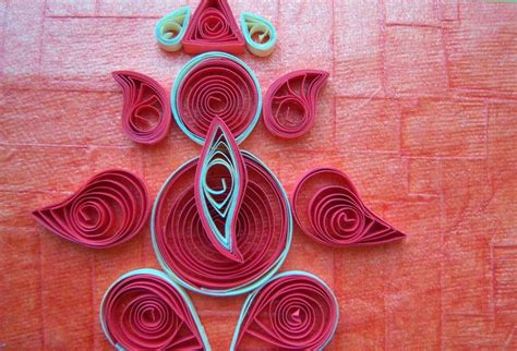 How To Make Design Paper - quilling made easy how to make beautiful sri ganesh