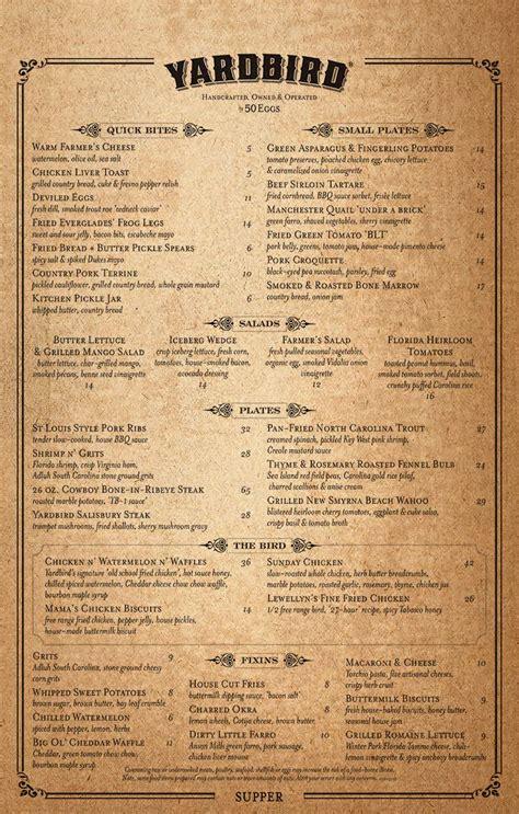 the table menu yardbird southern table bar menu urbanspoon zomato