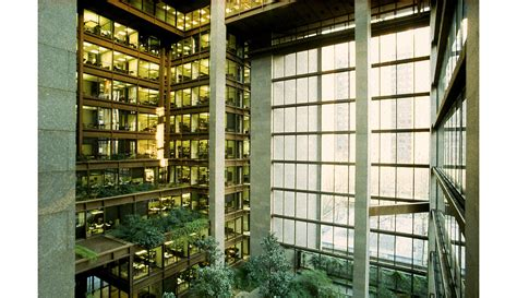 ford headquarters inside ad classics the ford foundation kevin roche john