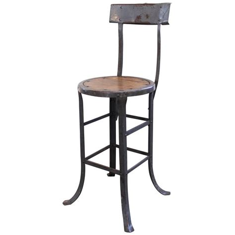 metal kitchen bar stools vintage industrial rustic wood and metal bar kitchen