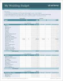 Printable Wedding Budget Template Free Wedding Budget Worksheet Printable And Easy To Use