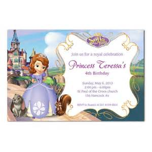 sofia the first birthday invitation cards mary party